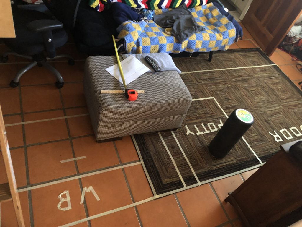Living Room Dodge Promaster dimensions